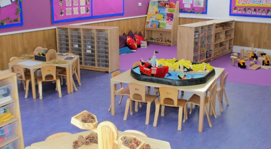kids inc day nursery interior tables and chairs